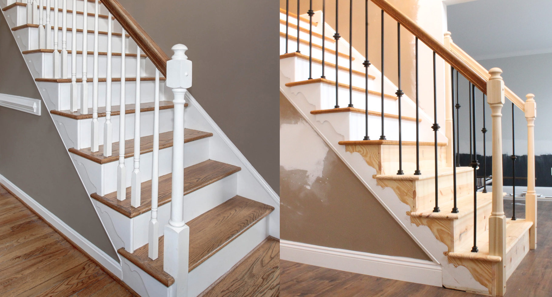 Changing Wood Stair Balusters To Iron 8 Steps With Video