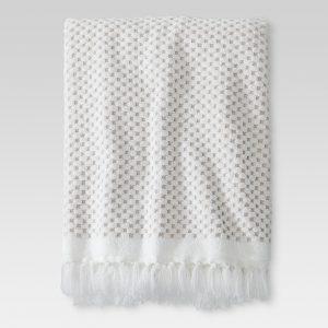 Knotted Fringe Bath Towels