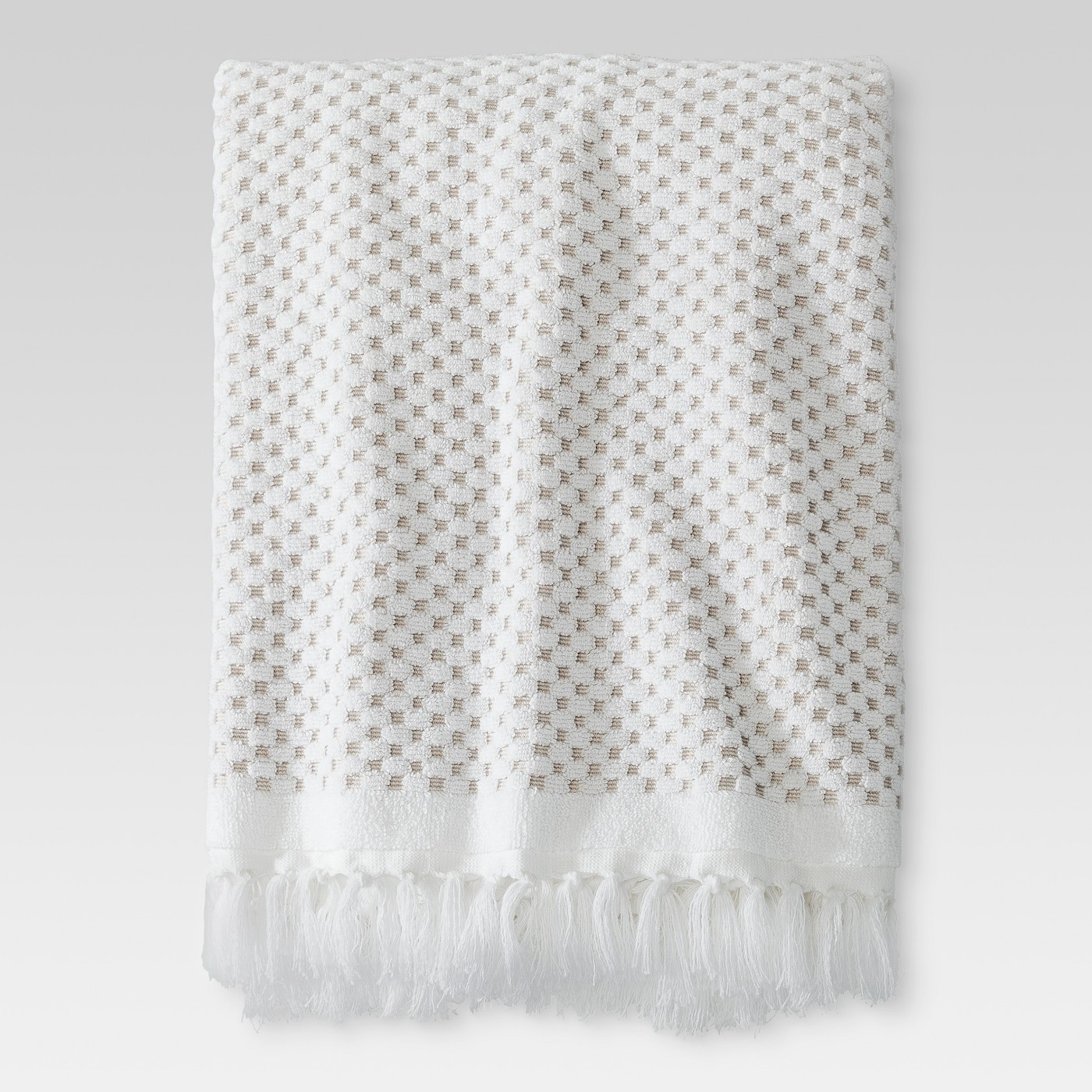 Knotted Fringe Bath Towels
