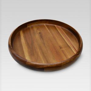 Round Natural Wood Platter
