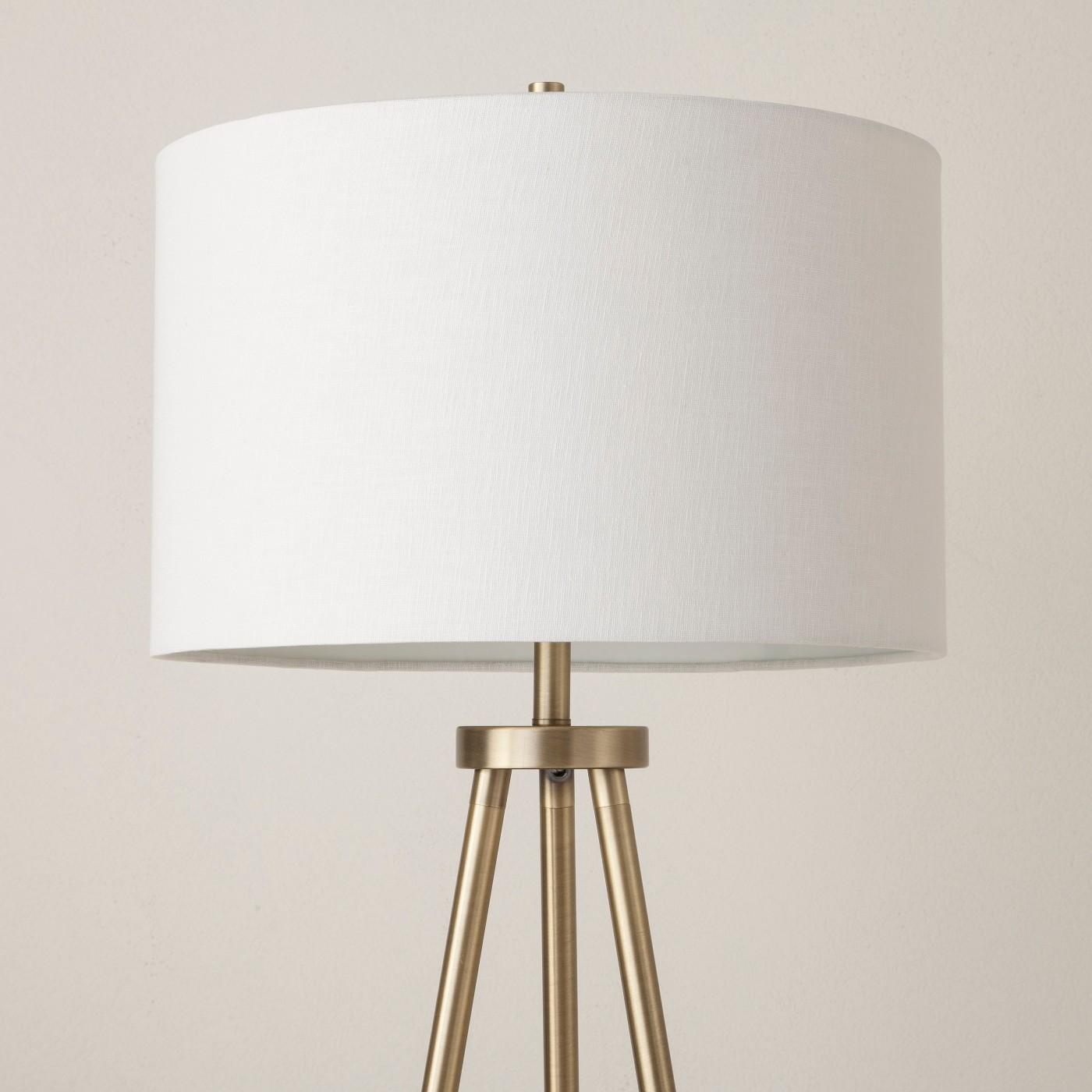 Tripod Floor Lamp Brass