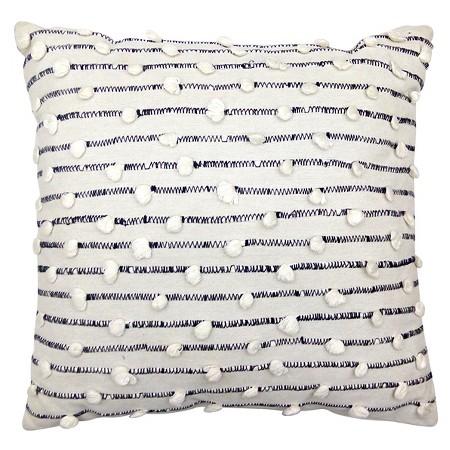 Woven Pom Pom Throw Pillow