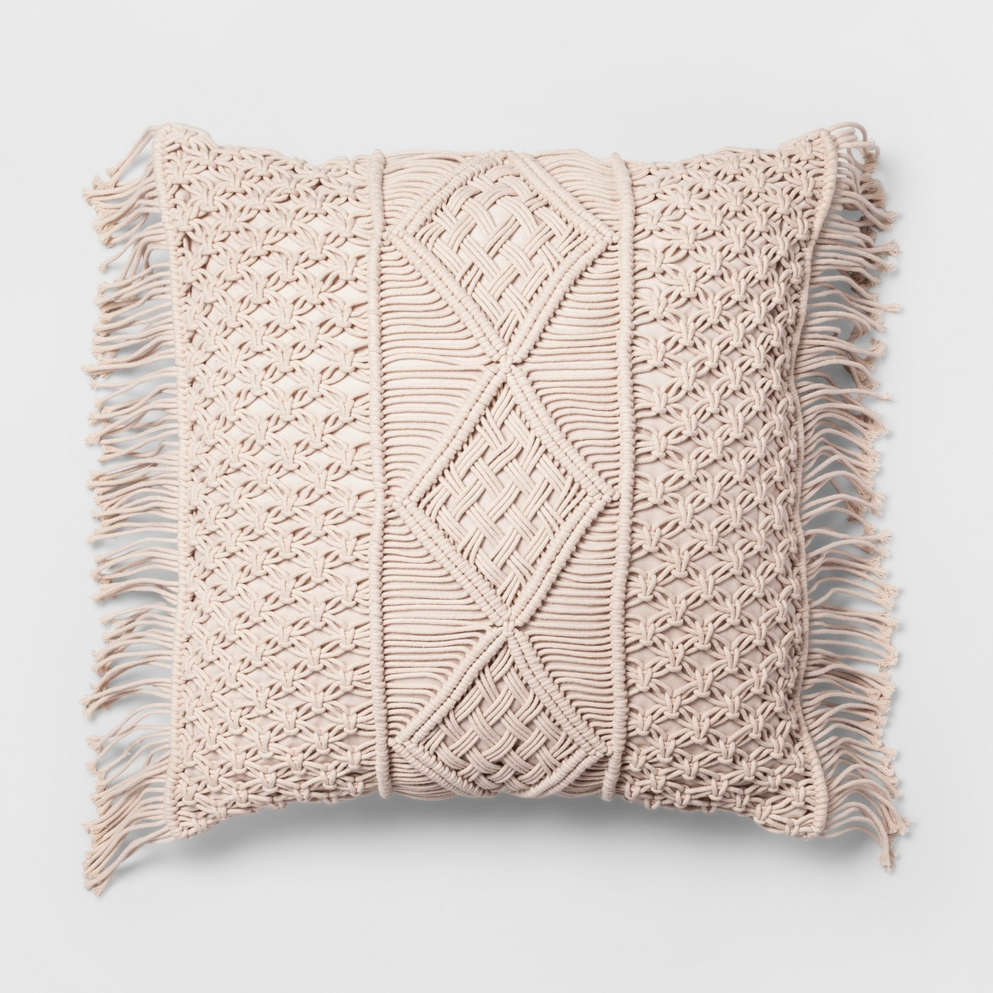 Macrame Cream Pillow