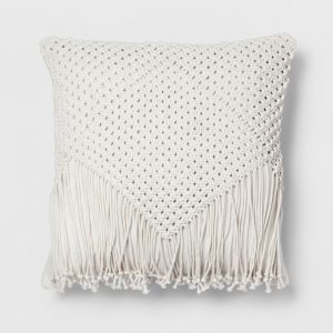 Macrame Fringe Pillow