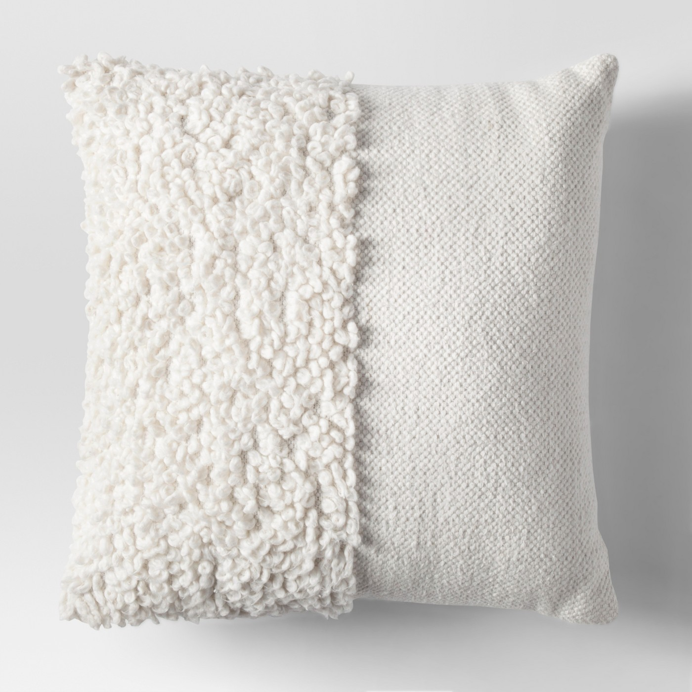 Solid Textured Throw Pillow