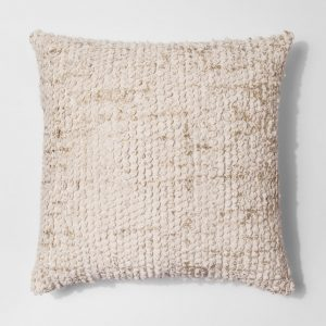 Tufted Metallic Pillow