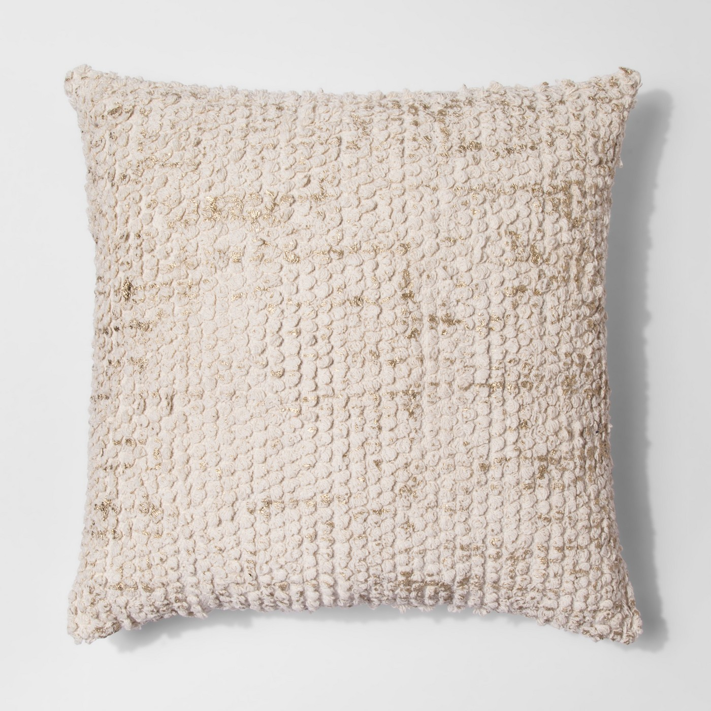 Tufted Metallic Pillow