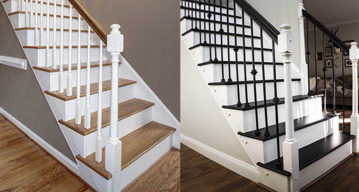 Staircase DIY Before and After