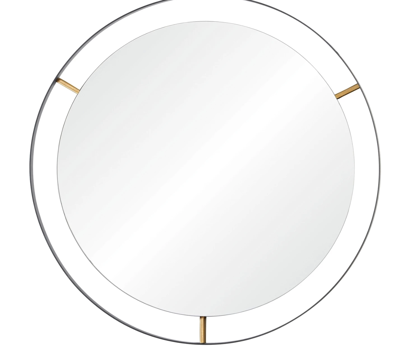 Framed Large Round Wall Mirror