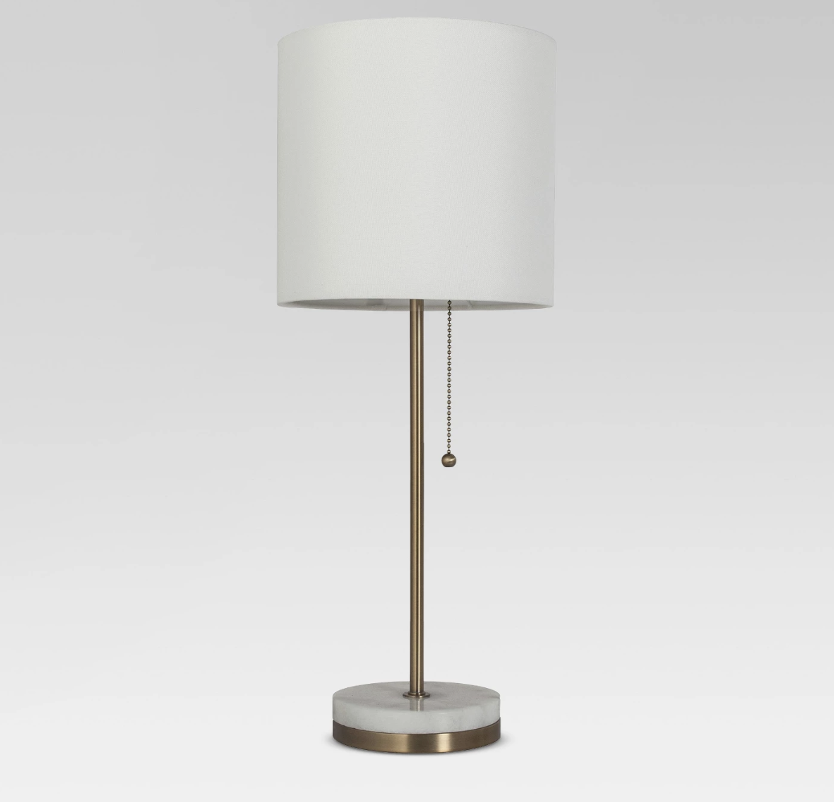 marble base stick lamp